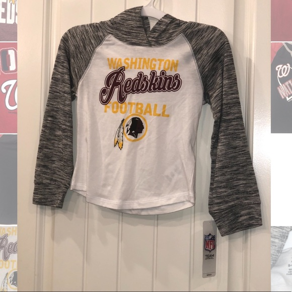 fb7ad3afde NFL Shirts & Tops | Girls Washington Redskins Hoodie Long Sleeve ...